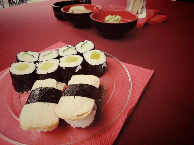 Vegetarische sushi @ Proef Eet Enschede