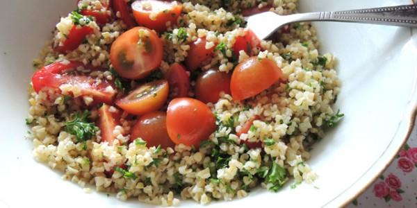 Taboulé van bulgur (Vegan)
