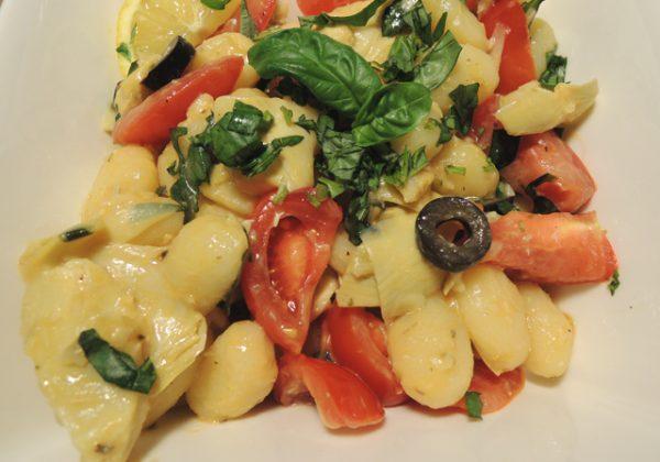 Gnocchi met artisjokken en citroensap (Vegan)