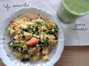 Scrambled tofu (Vegan)