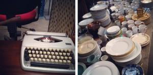 Kringloopvondsten: Typemachine & Servies