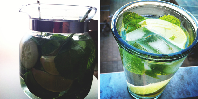 mint-limoen-komkommer-water