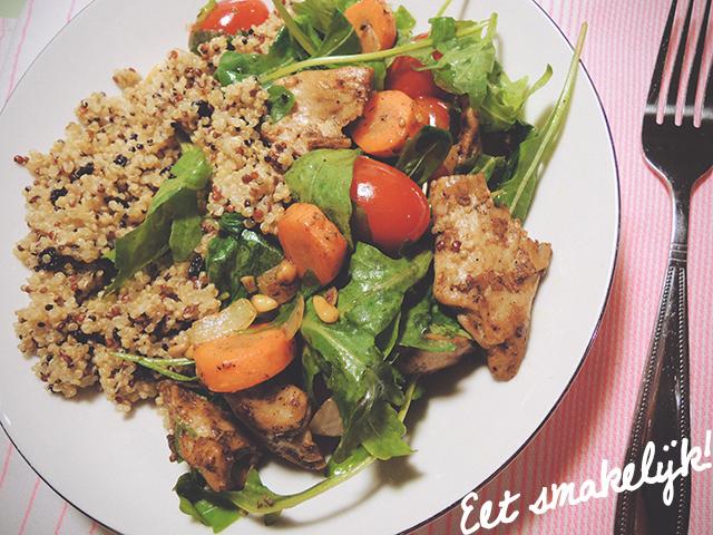 veganistisch quinoa recept