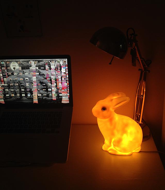 konijnen lamp
