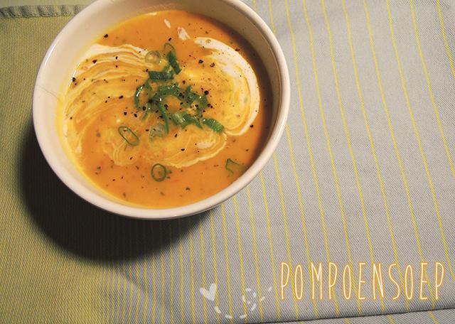 vegetarische pompoensoep recept