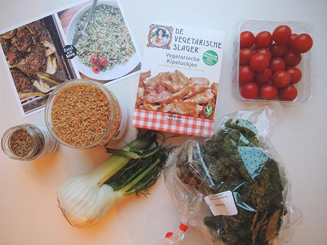 vegetarische kip met zaatar