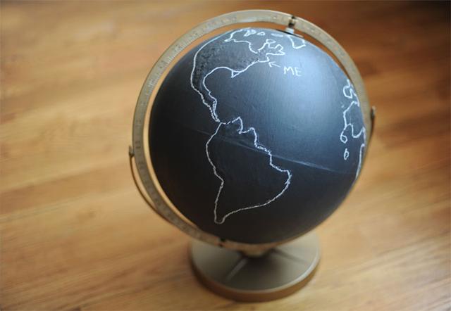 wereldbol schoolbordverf