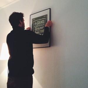 Verhuizen: Schilderij ophangen