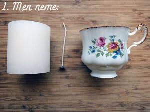 DIY: kaars in een kopje