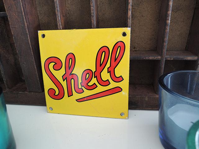 Metalen plaatje Shell