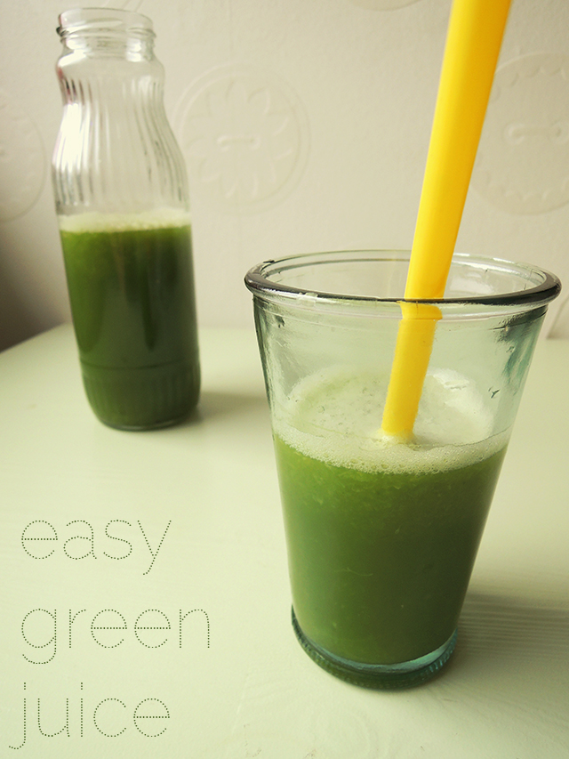 green juice recept