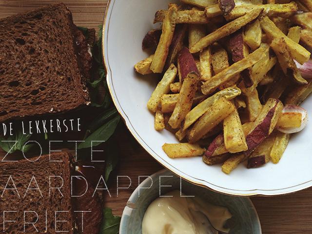 Recept: Knapperige zoete aardappelfriet