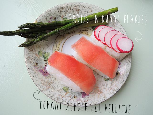 vegetarische sushi recept