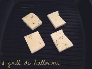 Recept salade met halloumi