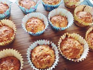 hartige muffins met lenteui