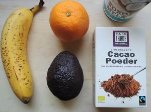 ingredienten chocolademousse met avocado