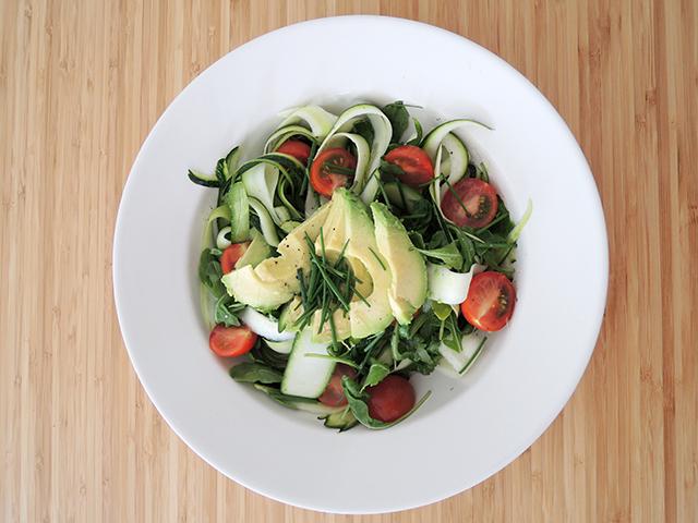 recept salade met rauwe courgette