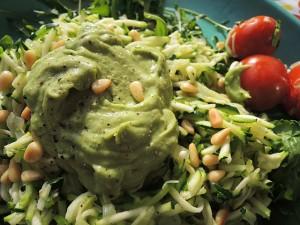 courgette spaghetti avocado