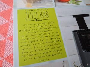 De Slowjuice Bar boek review