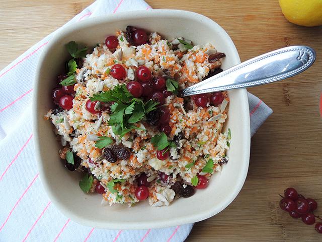 rauwe bloemkool salade