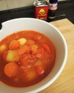 vegetarische goulashsoep