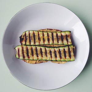 brood met gegrilde groenten