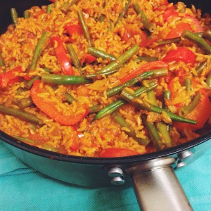 eenpansgerecht met rijst