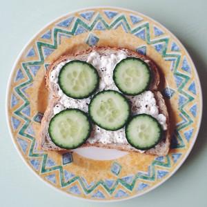 huttenkase op brood
