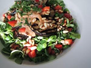 recept salade met aubergine