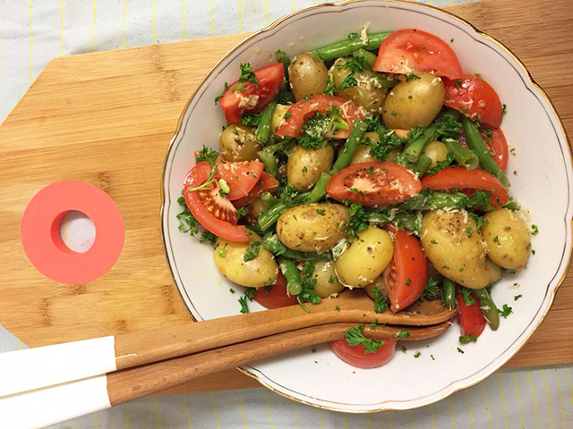 salade met krieltjes en mierikswortel