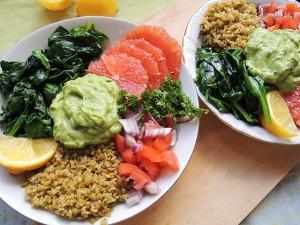 salade met freekeh