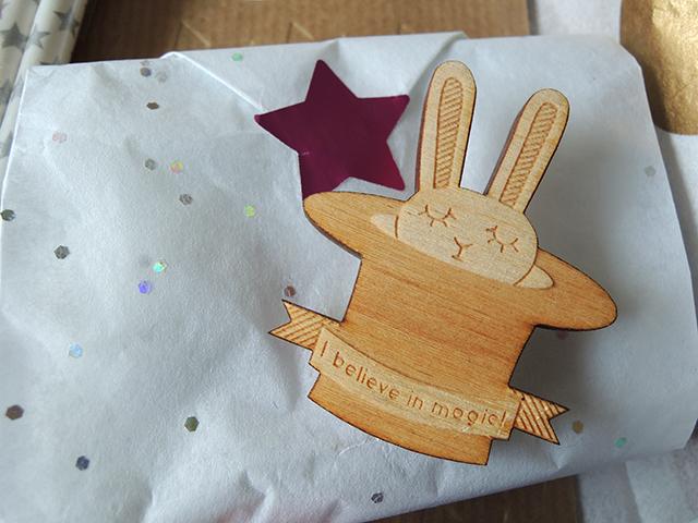 team confetti feel good box bunny broche