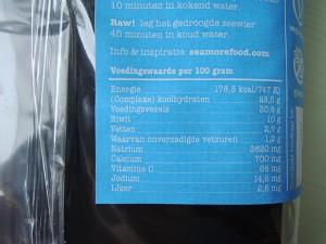 voedingswaarden zeewier