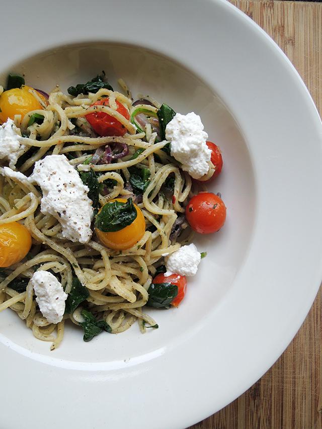 Recept: Simpele vegetarische pasta