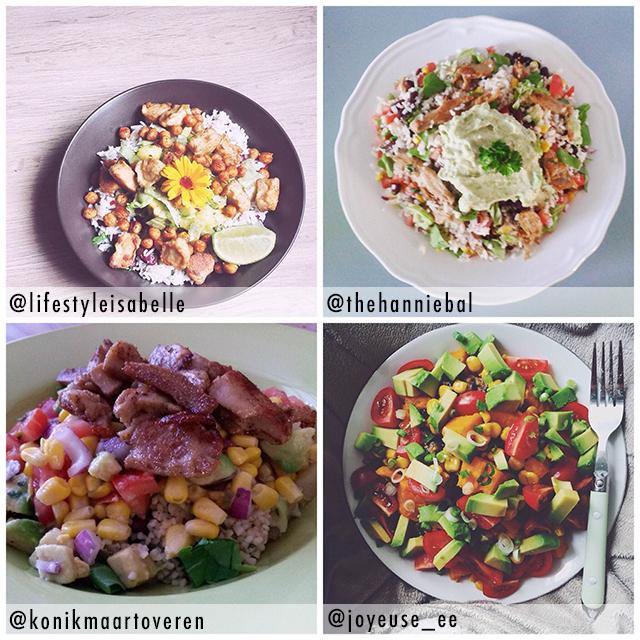 burrito bowl op instagram