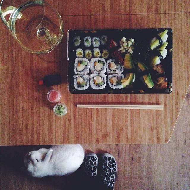 weekoverzicht: vegetarische sushi