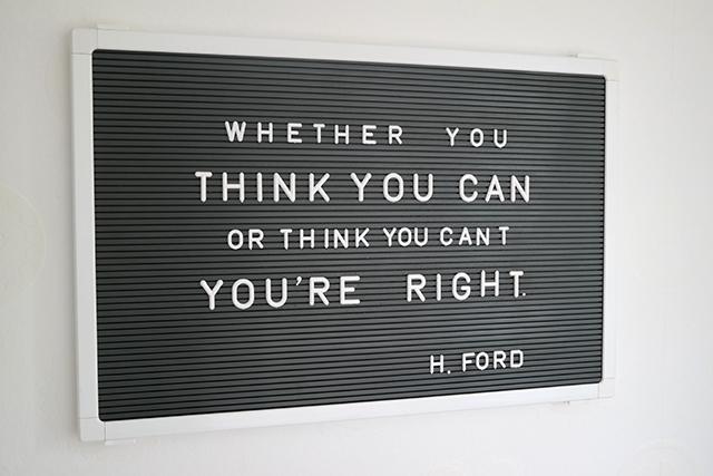 letterbord met quote