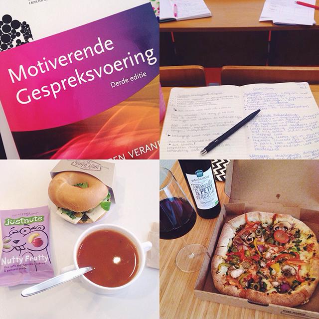 studeren en pizza