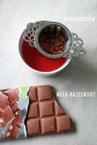 Hazelnootchocolade met thee