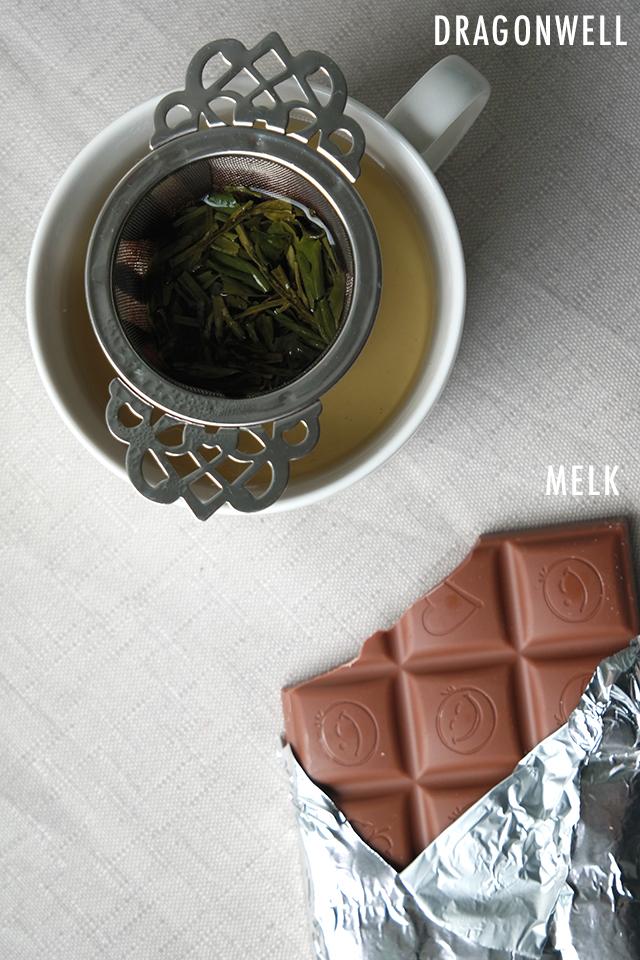 Melkchocolade met thee