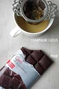 Pure chocolade met thee