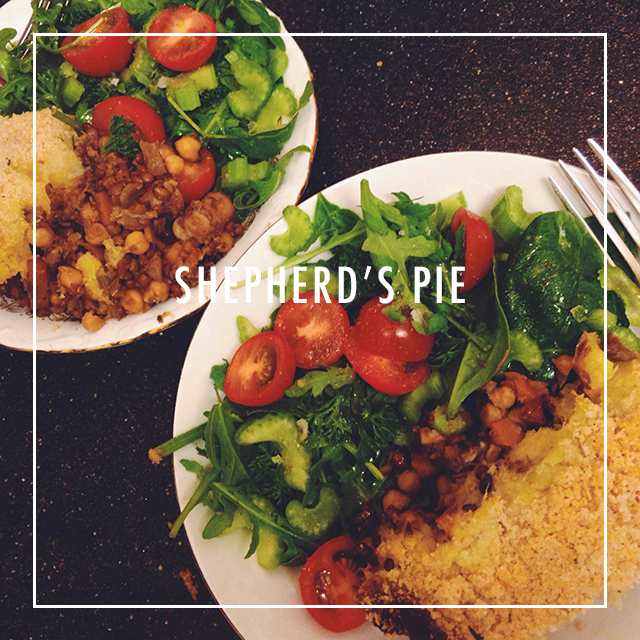 vegan gerechten shepherds pie