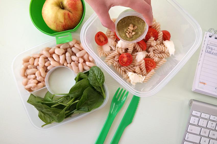 HEMA lunchbox - pastasalade