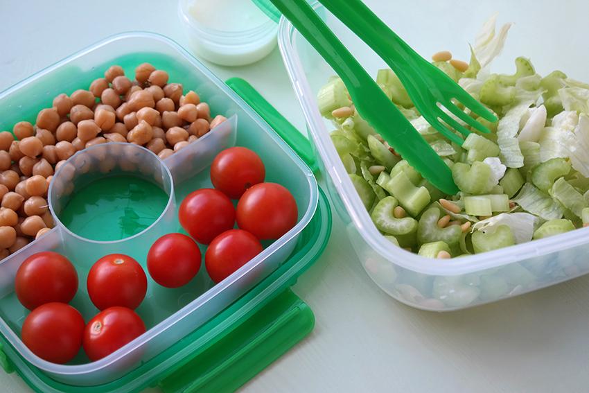 HEMA lunchbox - kikkererwtensalade