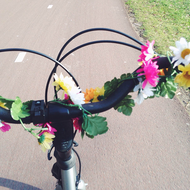 bloemenslinger fiets