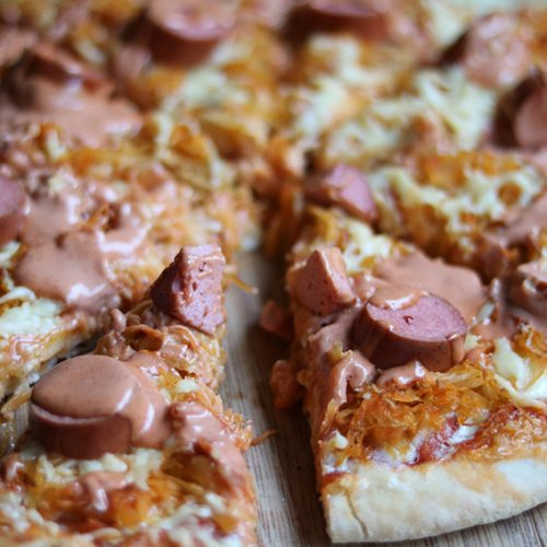 Zuurkoolpizza