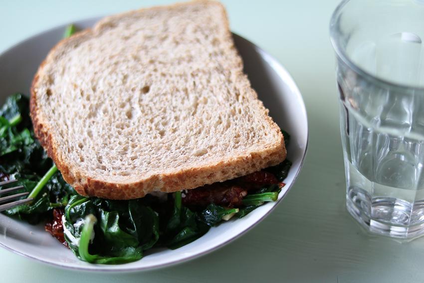 Brood met spinazie