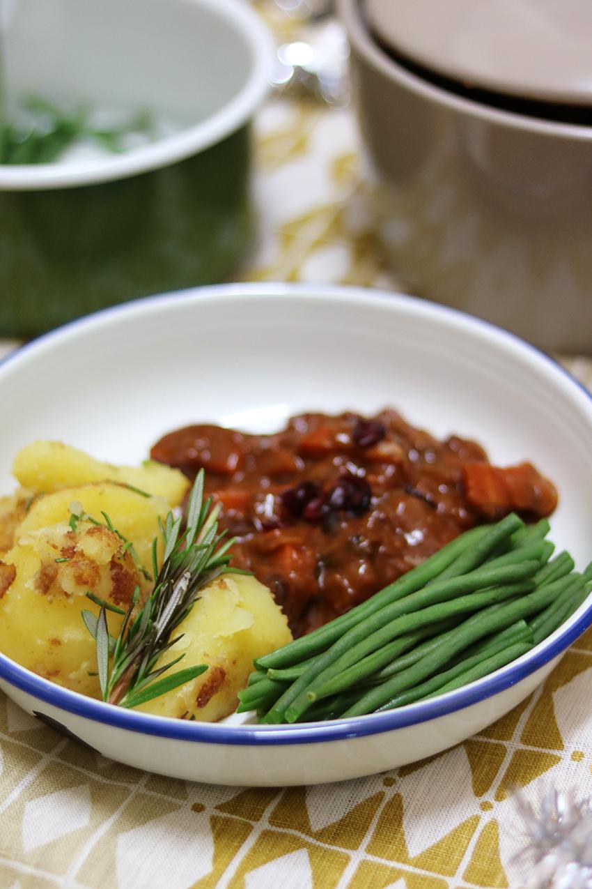 Feestelijk vegetarisch menu