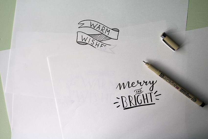 Handletterwerkje voor Light in a Cube