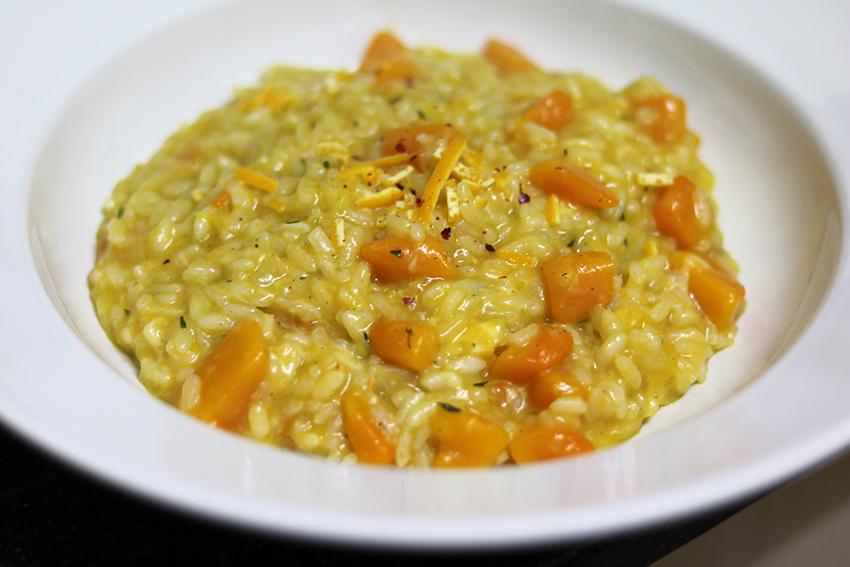 Risotto met pompoen en sinaasappel
